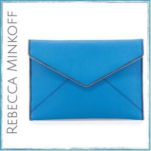 Blue Leo Envelope Clutch